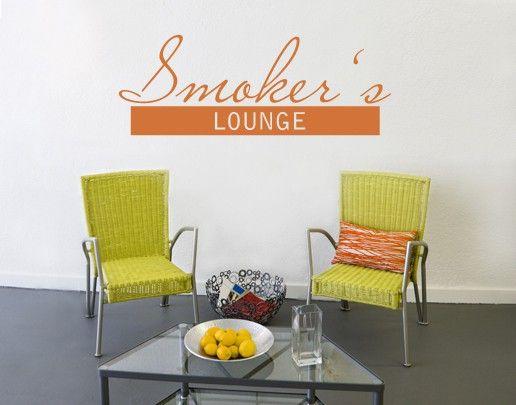 Wandtattoo Sprüche - Wandworte No.UL489 Smokers Lounge