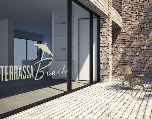 Fensterfolie - Fenstertattoo No.UL497 Terassa Beach - Milchglasfolie
