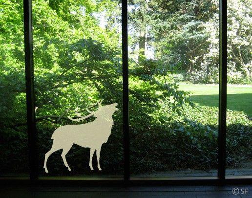 Fensterfolie - Fenstertattoo No.SF805 Hirsch - Milchglasfolie