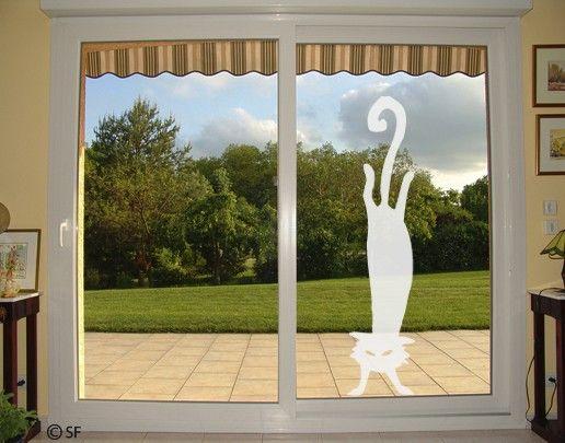 Fensterfolie - Fenstertattoo No.SF806 Crazy Cat - Milchglasfolie