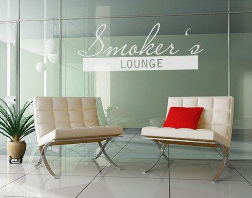 Fensterfolie - Fenstertattoo No.UL511 Smokers Lounge - Milchglasfolie