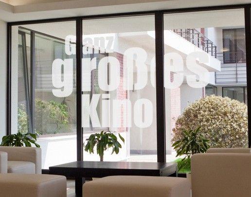 Fensterfolie - Fenstertattoo No.UL520 Ganz großes Kino - Milchglasfolie