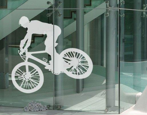 Fensterfolie - Fenstertattoo No.UL523 Biker - Milchglasfolie