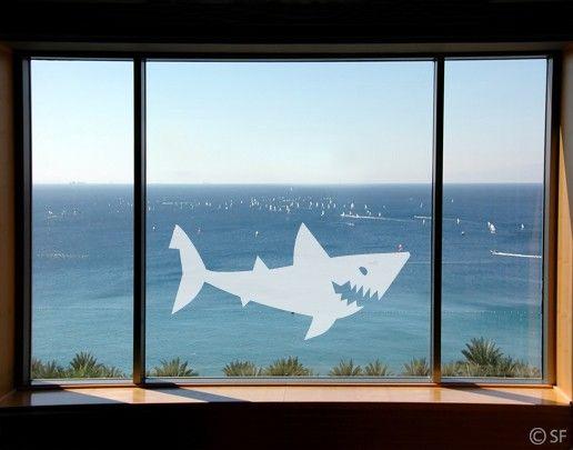 Fensterfolie - Fenstertattoo No.SF807 Shark - Milchglasfolie