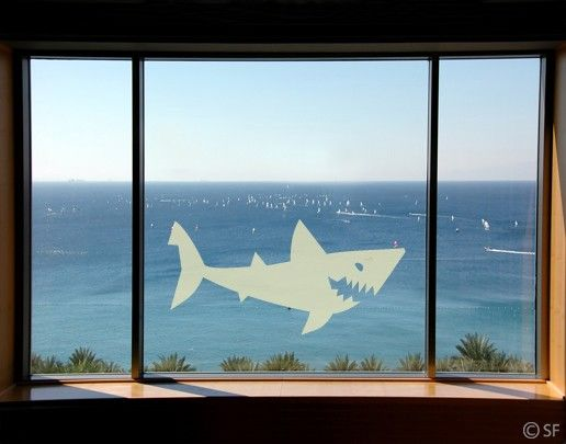 Fensterfolie - Fenstertattoo No.SF807 Shark - Milchglasfolie
