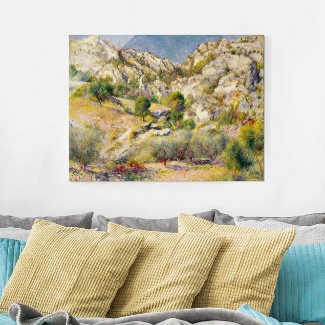Glasbild - Auguste Renoir - Felsen bei Estaque - Querformat 3:4