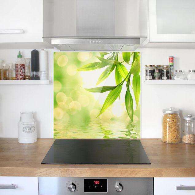 Glas Spritzschutz - Green Ambiance I - Quadrat - 1:1