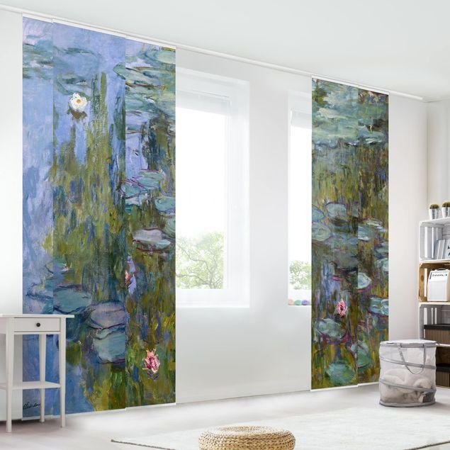 Schiebegardinen Set - Claude Monet - Seerosen (Nympheas) - 6 Flächenvorhänge