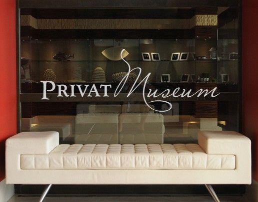 Fensterfolie - Fenstertattoo No.UL494 Privatmuseum - Milchglasfolie