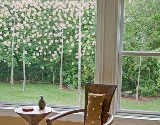 Fensterfolie - Fenstertattoo No.UL526 Schneefall - Milchglasfolie