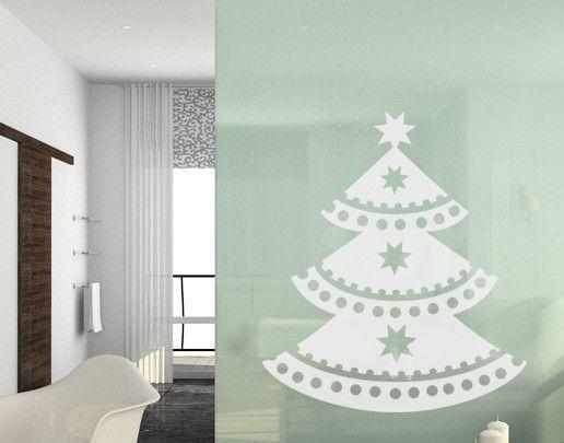 Fensterfolie - Fenstertattoo No.UL542 Weihnachtsbaum - Milchglasfolie