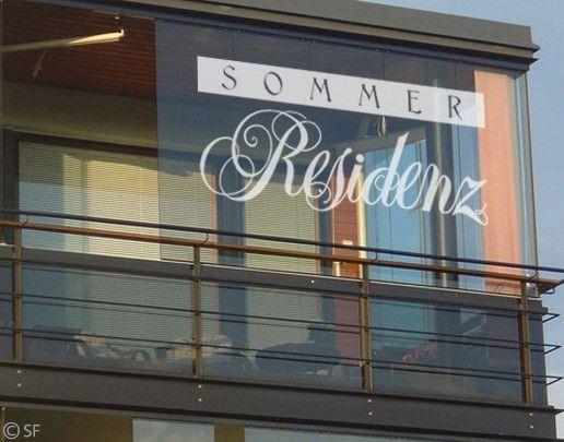 Fensterfolie - Fenstertattoo No.SF865 Sommerresidenz - Milchglasfolie