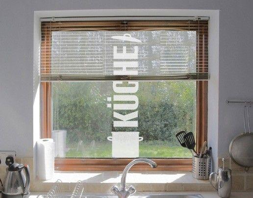 Fensterfolie - Fenstertattoo No.UL525 Küche - Milchglasfolie