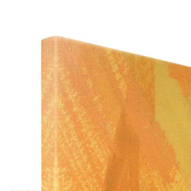 Leinwandbild Gold - Pink und Vanille I - Querformat 3:2