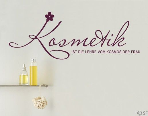 Wandtattoo Sprüche - Wandworte No.SF884 Kosmetik