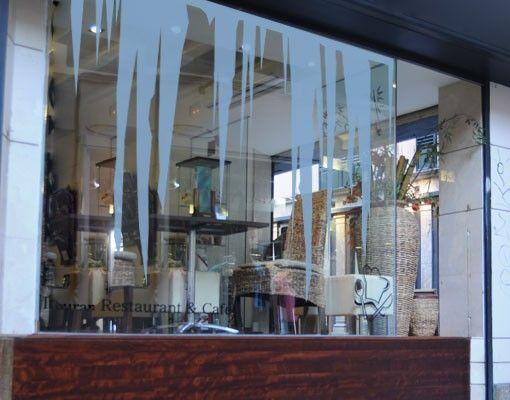 Fensterfolie - Fenstertattoo No.AS10 Eiszapfen - Milchglasfolie