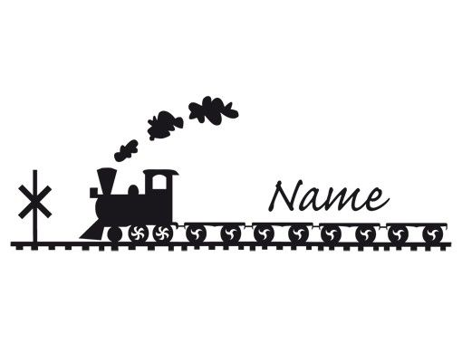 Wandtattoo Sprüche - Wandtattoo Namen Wunschtext No.UL559 Eisenbahn
