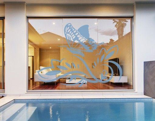 Fensterfolie - Fenstertattoo No.45 Schmetterling - Milchglasfolie