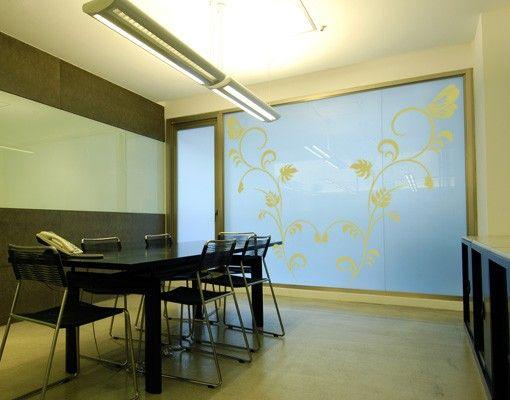 Fensterfolie - Fenstertattoo No.124 Floral Duo - Milchglasfolie