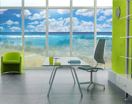 Fensterfolie - Sichtschutz Fenster Touch of Paradise II - Fensterbilder