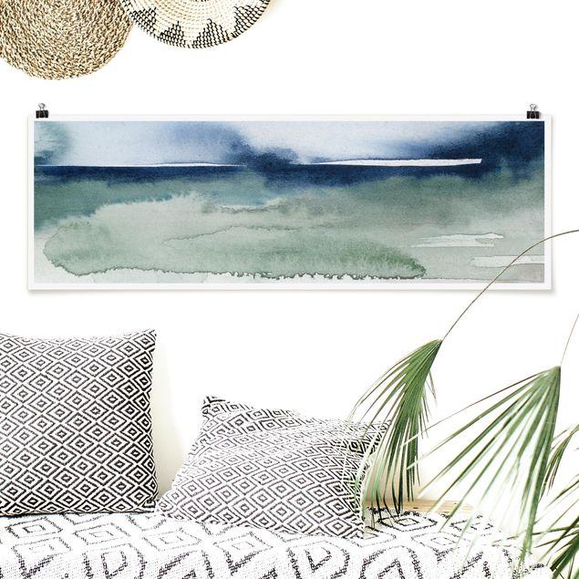 Poster - Meereswogen I - Panorama Querformat
