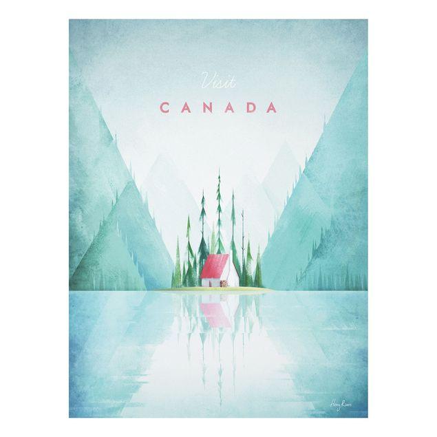 Forex Fine Art Print - Reiseposter - Canada - Hochformat 4:3
