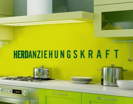 Wandtattoo Sprüche - Wandworte No.UL565 Herdanziehungskraft
