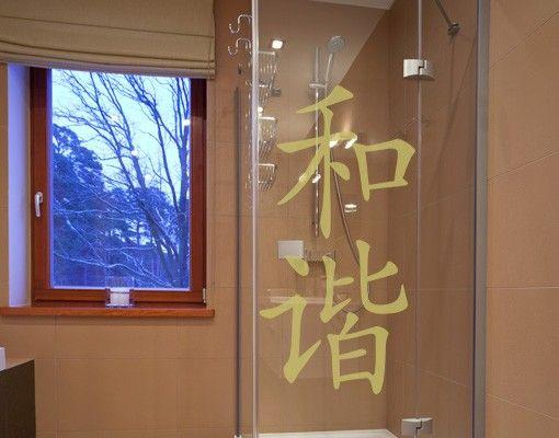 """Fensterfolie - Fenstertattoo No.42 Chinesische Zeichen """"Harmonie"""" - Milchglasfolie"""