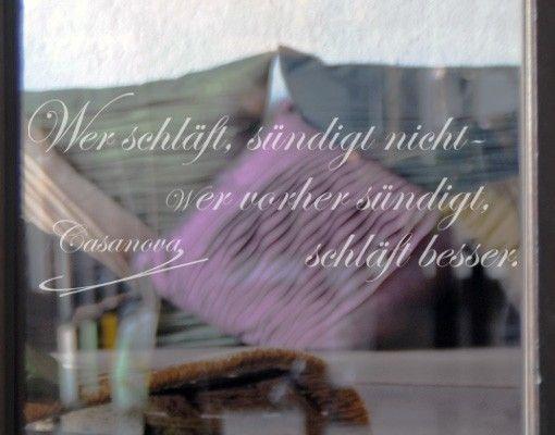 Fensterfolie - Fenstertattoo No.222 Casanova - Milchglasfolie