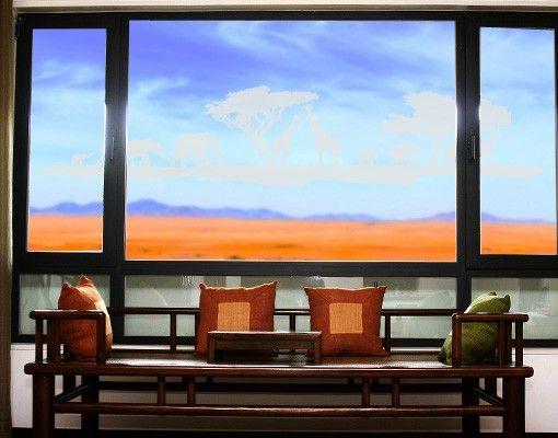 Fensterfolie - Fenstertattoo No.TM13 Safari II - Milchglasfolie