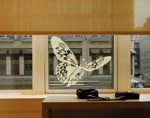 Fensterfolie - Fenstertattoo No.UL509 Schmetterling - Milchglasfolie