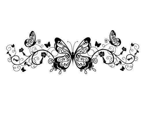 Fensterfolie - Fenstertattoo - Fensterdeko - No.383 Butterfly Ornament - Fensterbilder Frühling