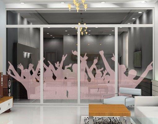 Fensterfolie - Fenstertattoo No.373 Party People - Milchglasfolie
