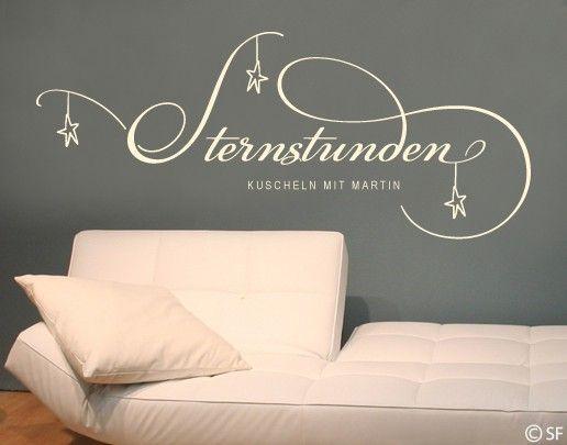Wandtattoo Sprüche - Wandtattoo Namen No.SF915 Wunschtext Sternstunden