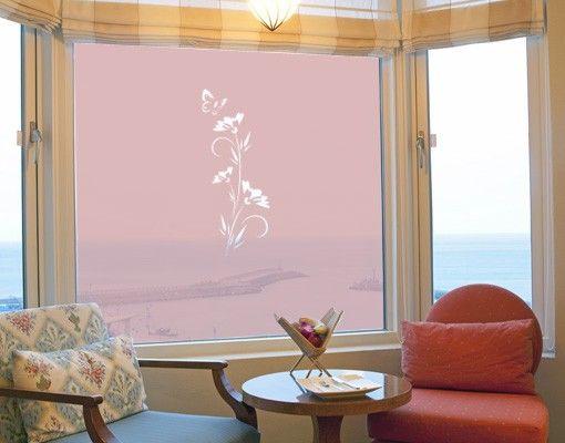 Fensterfolie - Sichtschutzfolie No.80 Blümchen II - Milchglasfolie