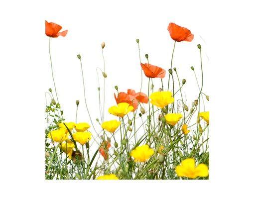 Fensterfolie - Sichtschutz Fenster - Wild Flowers - Fensterbilder Frühling
