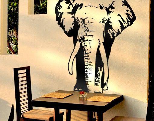Wandtattoo mehrfarbig Elefant No.TA8 Elefant