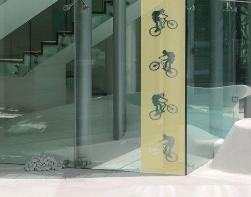 Fensterfolie - Sichtschutzfolie No.374 Bike III - Milchglasfolie