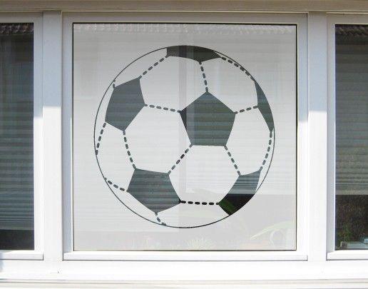 Fensterfolie - Sichtschutzfolie No.UL1 Fussball XXL II - Milchglasfolie
