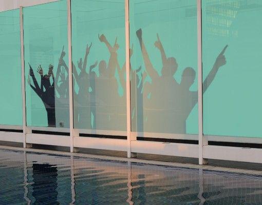 Fensterfolie - Sichtschutzfolie No.373 Party People I - Milchglasfolie