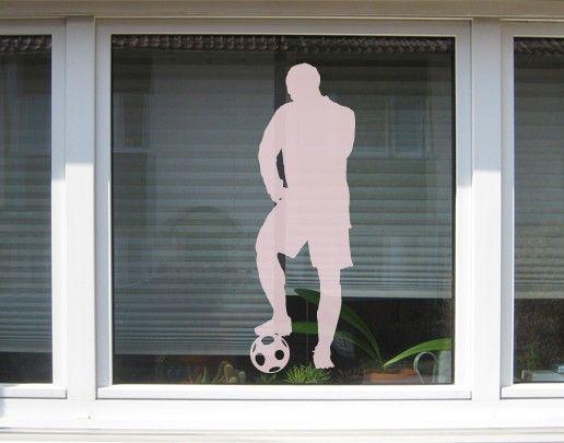 Fensterfolie - Fenstertattoo No.UL4 Fussballer3 - Milchglasfolie
