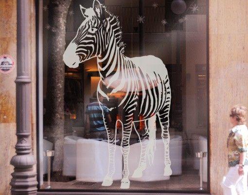 Fensterfolie - Fenstertattoo No.TA7 Zebra - Milchglasfolie