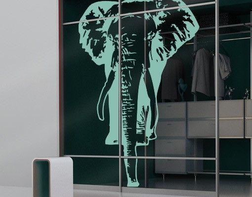 Fensterfolie - Fenstertattoo No.TA8 Elefant - Milchglasfolie