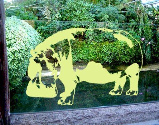 Fensterfolie - Fenstertattoo No.TA12 Nilpferd - Milchglasfolie
