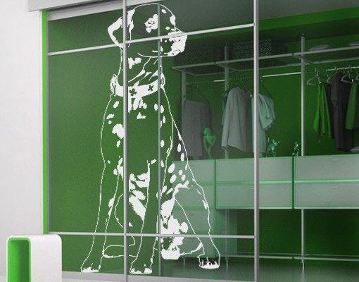 Fensterfolie - Fenstertattoo No.TA2 Dalmatiner - Milchglasfolie
