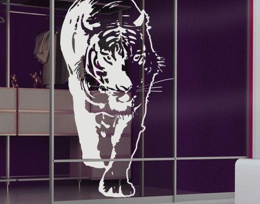 Fensterfolie - Fenstertattoo No.TA6 Tiger - Milchglasfolie