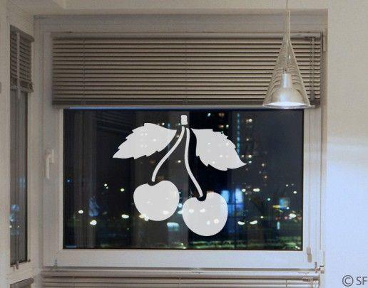 Fensterfolie - Fenstertattoo No.SF948 Kirschen - Milchglasfolie