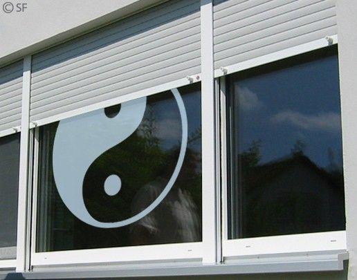 Fensterfolie - Fenstertattoo No.SF952 Yin&Yang - Milchglasfolie