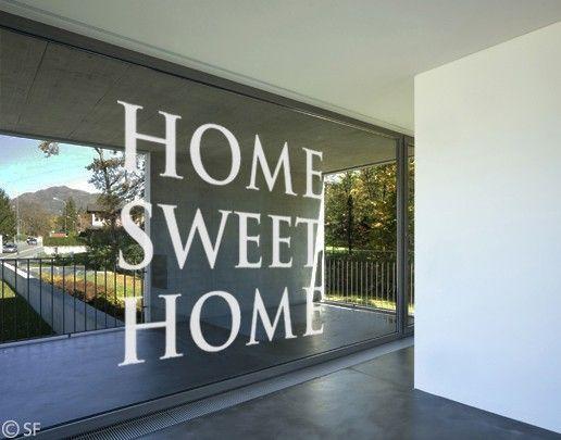 Fensterfolie - Fenstertattoo No.SF953 Home Sweet Home 2 - Milchglasfolie