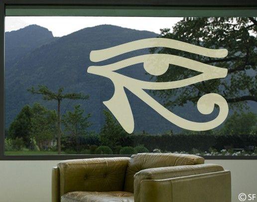 Fensterfolie - Fenstertattoo No.SF959 Horus Auge - Milchglasfolie